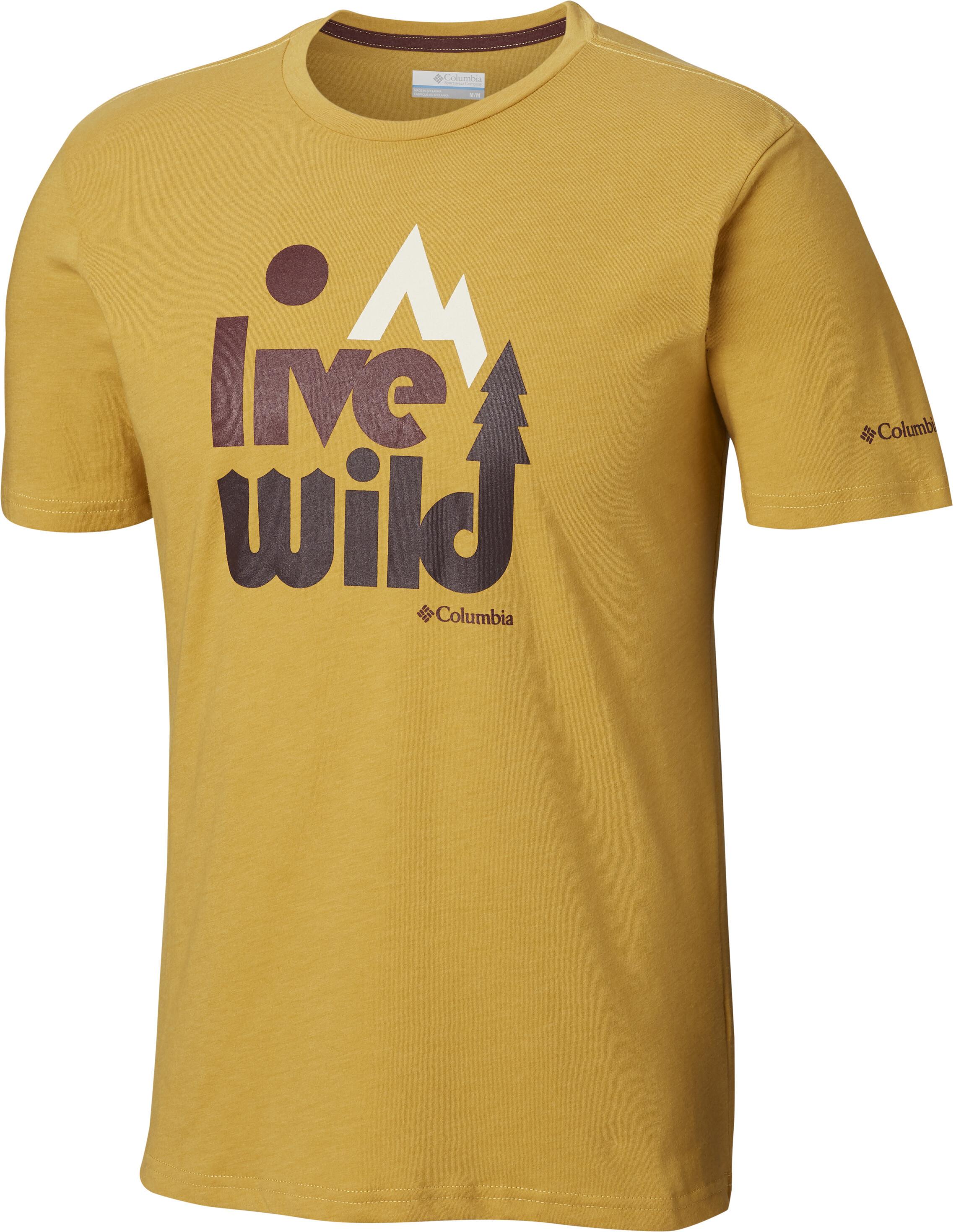 1b0ed54f70b9e Columbia Terra Vale - Camiseta manga corta Hombre - amarillo